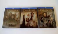 Lord of the Rings Trilogy Steelbook Set Blu-ray Rare The Fellowship King Towers