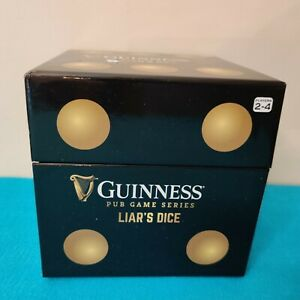 GUINNESS Official Liars Dice Game Pub Game Series Drinking Brand NEW
