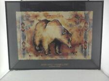 """MONICA STOBIE Wilderness Spirit BEAR Southwestern Art Print 25.25""""x18.5"""" Framed"""