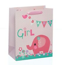 Baby Girl Pink Elephant Luxury Gift Bag - Choose Small/Medium/Large
