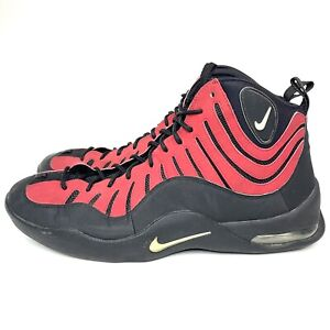 Men's Size 14 Nike Air Bakin Tim Hardaway Basketball Shoes Black Red 316383-001