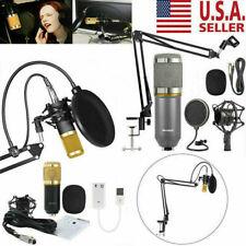 Condenser Microphone Kit Studio Pro Audio Recording Arm Stand Shock Mount Bm800