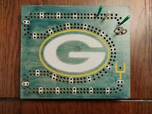 NFL Theme Green Bay Packers cribbage board