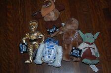 Star Wars Beanie Buddies-Trilogy Collection Lot-Yoda C-3PO R2-D2 Wicket Chewbac