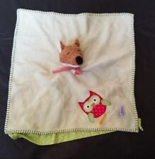 Kathe Kruse Fox Owl Lovey Green Red Dot Stripe Baby Toy Security