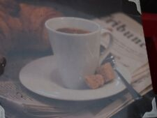 EUROGRAPHICS Becher Kaffee  Leinwandbild Mehrfarbig Kunstdruck Wandbild
