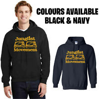 Junglist Movement Hoodie, Music Record Turntable DJ Human Traffic Rock n Roll