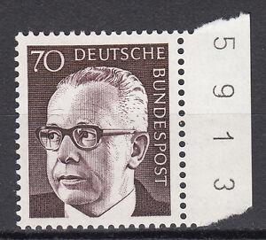 BRD 1970 Mi. Nr. 641 Bogenzähler Postfrisch (3848)