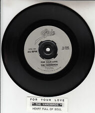 """THE YARDBIRDS  For Your Love 7"""" 45 rpm vinyl record + juke box title strip NEW"""