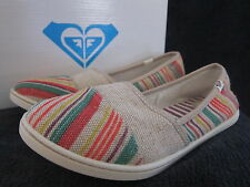ROXY Womens Pier II Multi Color Textile Canvas Flats Slip On Shoes US 7.5 M NWB