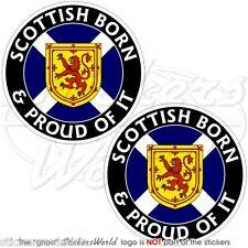 "SCOTLAND Scottish Born & Proud UK British 75mm (3"") Bumper Stickers, Decals x2"