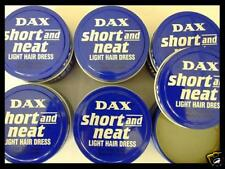 6 x DAX SHORT and NEAT Light Hair Dress Pomade - Blaue Dose