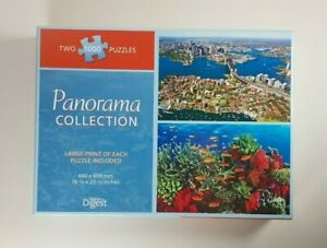 Readers Digest Panorama Collection Jigsaw Puzzle Reef & Sydney Two 1000 Pieces
