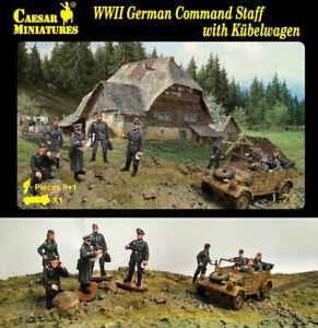 Caesar Miniatures 1/72 German Command Staff with Kubelwagen # 095