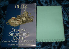 BLITZ Cloth Sterling Silver Shine Silverplate Cleans Protects NonToxic USA118