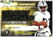 SCORE 2002 TIM BROWN NFL LOS ANGELES RAIDERS STAR MNT MONDAY MATCHUP #MM8