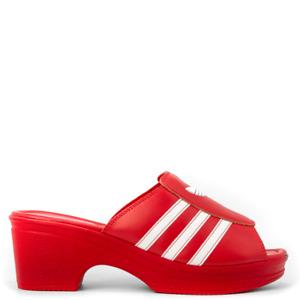 adidas x Lotta Volkova Trefoil logo mules SANDALS RED IN SALT - FW4384