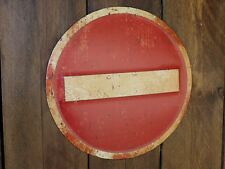 No Entry embossed sign vintage style metal sign notice