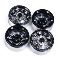 4x 2.2 inch Metal Beadlock Wheel Rims for 1/10 RC Axial Wraith SCX10 D90 TRX-4