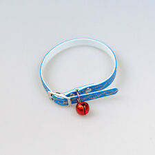 Collar With Bell for Dogs and Cats Plastic Blue Length: 32cm New