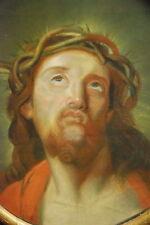 Pastel, Jésus Christ. Tableau, cadre ovale 52x57,5cm. Religion.