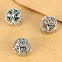 10Pcs Crystal Big Hole Charms European Spacer Beads Fit DIY Bracelet Necklace