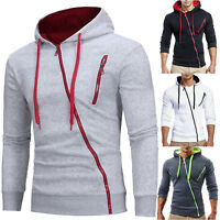 Men's Zip Up Hoodie Hooded Sweatshirt Coat Jacket Outwear Jumper Winter Sweater