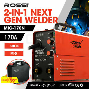 【EXTRA10%OFF】ROSSI 170 Amp Welder Portable Inverter MIG Stick ARC Welding