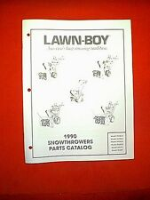 LAWN BOY SNOWTHROWER MODELS 55381A 55382A 55383A 55384A 55379 55380 PARTS MANUAL