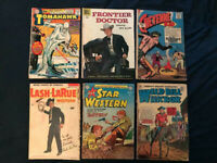 Golden & Silver Age Lot of 6 Western Comics - All Star #76, Lash LaRue, Tomahawk