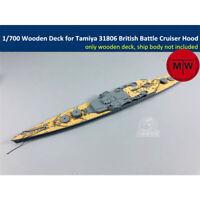 TMW 1/700 Wooden Deck for Tamiya 31806 British Battle Cruiser Hood Model
