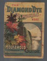 Diamond Dye Almanac & Household Guide 1887 Wells Richardson & Co