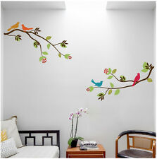 2 Large Tree Branches with Birds - Wall Decal Deco Art Sticker Mural