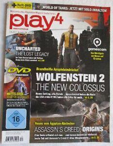 play4, Playstation-Magazin, 10.2017 / Ausgabe 126, + Heft-DVD