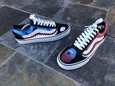 f01cffb554f8e4 Custom Vans x Bape Old Skool Shark Teeth Off The Wall