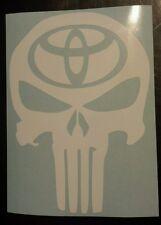 Vinyl Decal Sticker..Punisher Skull..Toyota..Car Truck Window