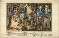 Thanksgiving - Winsch Schmucker Revolutionary War Soldiers c1910 Postcard