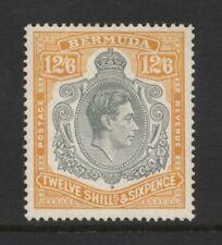 Bermuda KGVI 12/6 Grey & Orange Value Mounted Mint