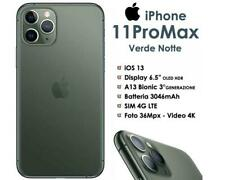 Apple iPhone 11 Pro Max 256GB Green Verde Ex Demo Nuovo