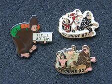 lot de 3 pin's TINTIN au tibet , yeti , hergé , bd