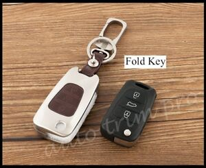 Metallic Keyfob Key Shell Holder Case Bag Ring For Hyundai I20 I30 IX35 3 button