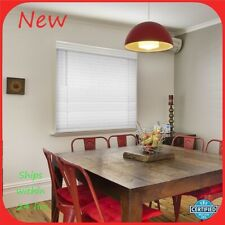 "Hdc White Cordless 2-1/2 in. Premium Faux Wood Blind 52.5"" x 72"" R24"