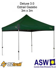 3m x 3m Oztrail Gazebo DELUXE 3.0 GREEN Instant Fold Marquee G-OZD3.0