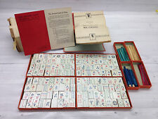 Vintage 1923 Milton Bradley Mah Jong Ancient Game of China Wood Tiles #4504{AG}