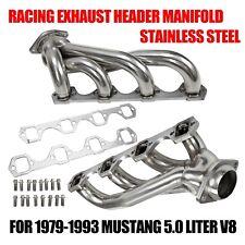 RACING EXHAUST HEADER MANIFOLD FOR 79-93 MUSTANG 5.0 LITER V8 ENGINE MOTOR