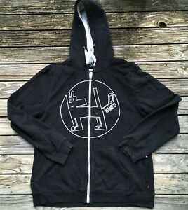 #41 MAMBO LARGE MENS ZIPPED HOODED JACKET BLACK CLEAN SEE DESCRIPTION
