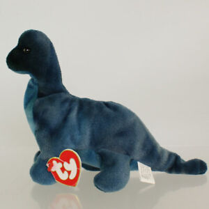 TY Beanie Baby - BRONTY the Dinosaur (3rd Gen Hang Tag - MWCTs)
