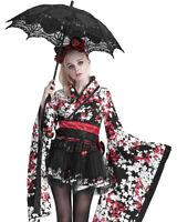 Punk Rave Womens Gothic Parasol Umbrella Black Lace Steampunk Lolita Victorian