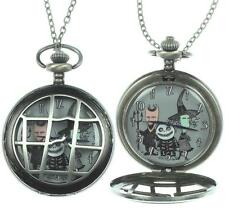 The Nightmare Before Christmas Lock Shock Barrel Pocket Watch Necklace LICENSED