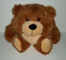 Animal Alley Round Teddy Bear 10in Brown Tan Soft Furry Plush Animal  2014